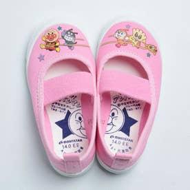 上履き 上靴 キャラクター アンパンマン 男の子 女の子 キッズ 幼稚園 スクール 日本製 APM02 (ピンク)