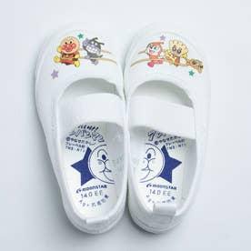 上履き 上靴 キャラクター アンパンマン 男の子 女の子 キッズ 幼稚園 スクール 日本製 APM02 (ホワイト)