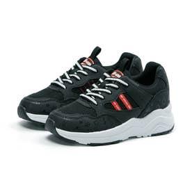 キッズ ジュニア 女の子 子供 スニーカー ニーモ ni-mo 靴 運動靴 撥水 防水 防菌 防臭 NM J041 (ブラック)