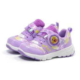 キッズ 女の子 子供 スニーカー ディズニー 運動靴 ウィスカーヘイブン ビューティー サマー パンプキン (パープル)
