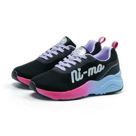 キッズ ジュニア 女の子 子供 スニーカー ニーモ ni-mo 靴 運動靴 防菌 防臭 NM J040 (パープル/サックス)