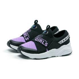 キッズ ジュニア 女の子 子供 スリッポン スニーカー ニーモ ni-mo 靴 運動靴 防菌 防臭 NM J043 (パープル)