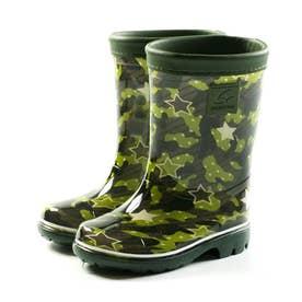 キッズ ジュニア 長靴 雨靴 ブーツ レインブーツ MS RBC65 カーキ ネイビー サックス ピンク 男の子 女の子 (カーキ)