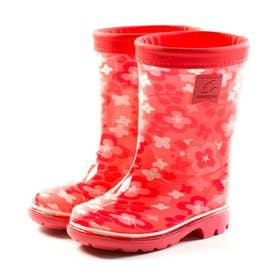 キッズ ジュニア 長靴 雨靴 ブーツ レインブーツ MS RBC65 カーキ ネイビー サックス ピンク 男の子 女の子 (ピンク)
