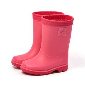 キッズ ジュニア 長靴 雨靴 ブーツ レインブーツ MS RBC65 カーキ ネイビー サックス ピンク 男の子 女の子 (Pピンク)