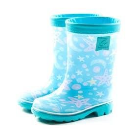 キッズ ジュニア 長靴 雨靴 ブーツ レインブーツ MS RBC65 カーキ ネイビー サックス ピンク 男の子 女の子 (サックス)