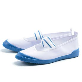 上履き 上靴 ゴムバンド 男の子 女の子 子供 キッズ 中学校 小学校 スクール 幼稚園 ビニールバレー (シロ/ネイビー)