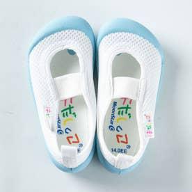 上履き 上靴 はだしっこ 蒸れにくい 日本製 軽量 通気性 抗菌 防臭 幼稚園 小学校 男の子 女の子 小学校 (サックス)