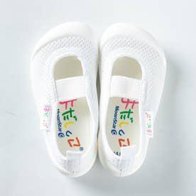 上履き 上靴 はだしっこ 蒸れにくい 日本製 軽量 通気性 抗菌 防臭 幼稚園 小学校 男の子 女の子 小学校 (ホワイト)