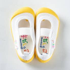 上履き 上靴 はだしっこ 蒸れにくい 日本製 軽量 通気性 抗菌 防臭 幼稚園 小学校 男の子 女の子 小学校 (イエロー)