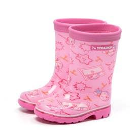 キッズ ドラえもん レイン 長靴 レインブーツ 通学 スクール 男の子 女の子 日本製 キャラクター (ピンク)