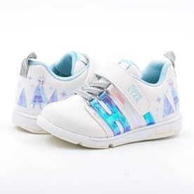 キッズ スニーカー アナ雪 アナと雪の女王 ディズニー 靴 運動靴  エルサ アナ オラフ マジックテープ (サックス)