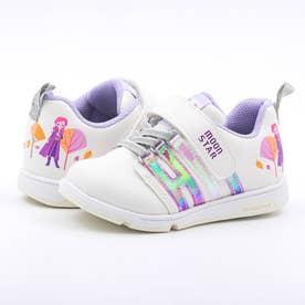 キッズ スニーカー アナ雪 アナと雪の女王 ディズニー 靴 運動靴  エルサ アナ オラフ マジックテープ (パープル)