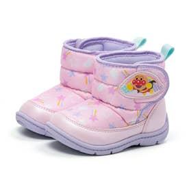 キッズ ジュニア 男の子 女の子 子供 ブーツ アンパンマン スノーブーツ 撥水加工 洗えるインソール (ピンク)