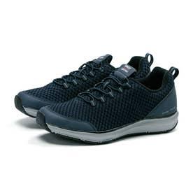メンズ スニーカー シナジー スリッポン ゴム紐 3E 幅広 靴 運動靴 SNGY M12 (ネイビー)