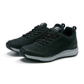 メンズ スニーカー シナジー スリッポン ゴム紐 3E 幅広 靴 運動靴 SNGY M12 (ブラック)