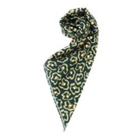 フラワーレオパードスカーフ(グリーン)
