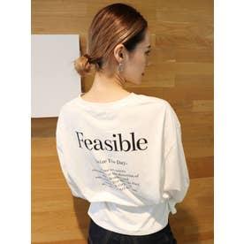 FeasibleロングスリーブT(ホワイト)