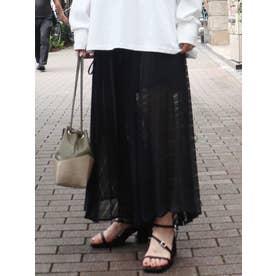 セパレートシアープリーツスカート(ブラック)