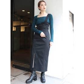 ワンショルペンシルジャンパースカート(ブラック)
