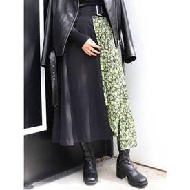 アラベスクドッキングスカート(ブラック)
