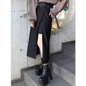 アウトポケットラップスカート(ブラック)