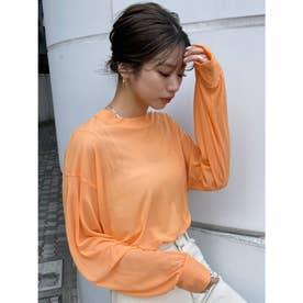 シアーロングルーズTシャツ(オレンジ)