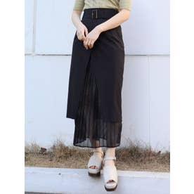 ヘムシアーラップスカート(ブラック)