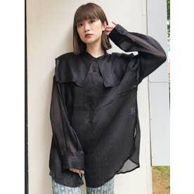 セーラーシアーオーバーシャツ(ブラック)