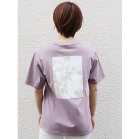 シャドーフラワープリントTシャツ(ピンク)
