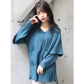 バックスラッシュシアーシャツ(グリーン)