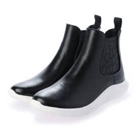 軽量 サイドゴアレインブーツ 完全防水仕様 (ブラック)