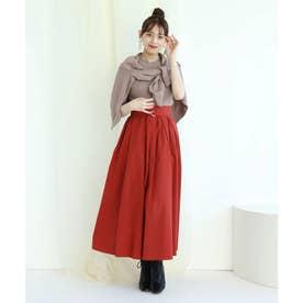 タックギャザースカート (赤)