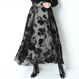リリーフロッキースカート (黒)