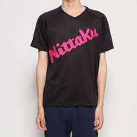 卓球 半袖Tシャツ ビーロゴTシャツ NX2091 (ブラック)