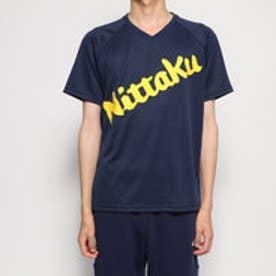 卓球 半袖Tシャツ ビーロゴTシャツ NX2091 (ネイビー)