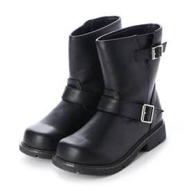 2ベルトミドルブーツ (BLACK)