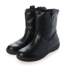 カジュアル防滑耐水ミドルブーツ (BLACK)