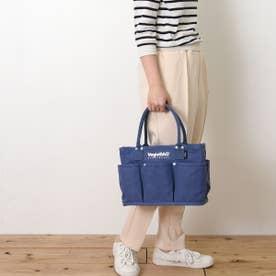 トートバッグ  VegieBAG スモール キャンバス 大容量 お買い物 エコバッグ (ブルー)