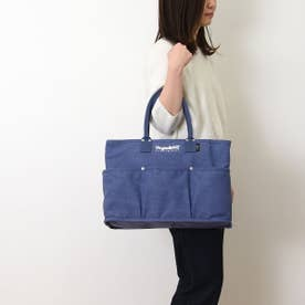 トートバッグ  VegieBAG ラージ キャンバス 大容量 お買い物 エコバッグ (ブルー)