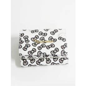 ハローキティリボン総柄折り畳み財布 (WH)
