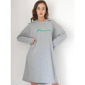 ロゴフーティーマキシTシャツ (GY)