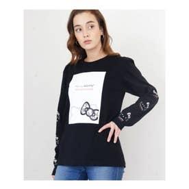 ハローキティロングスリーブTシャツ (BK)