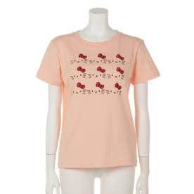 キティ刺繍Tシャツ (PK)