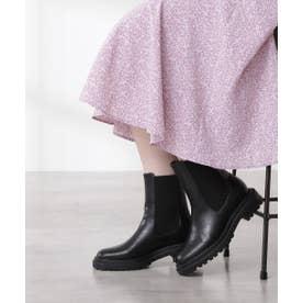 サイドゴアミドルブーツ ブラック
