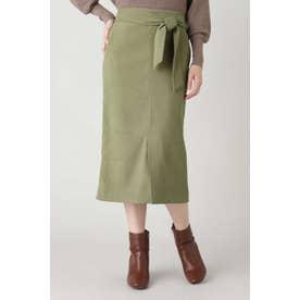 ウエストリボンタイトスカート ライトグリーン