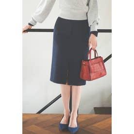 ダブルクロスポケットタイトスカート ネイビー