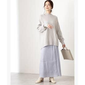 シャイニーAラインマキシスカート ブルー
