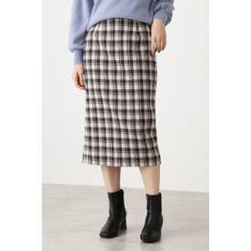 ジュネスチェックタイトスカート オフベースチェック1