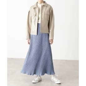 楊柳ナロースカート ブルー